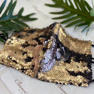 Midas gold sequin mask
