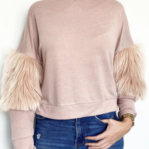 blush fau fur jumper