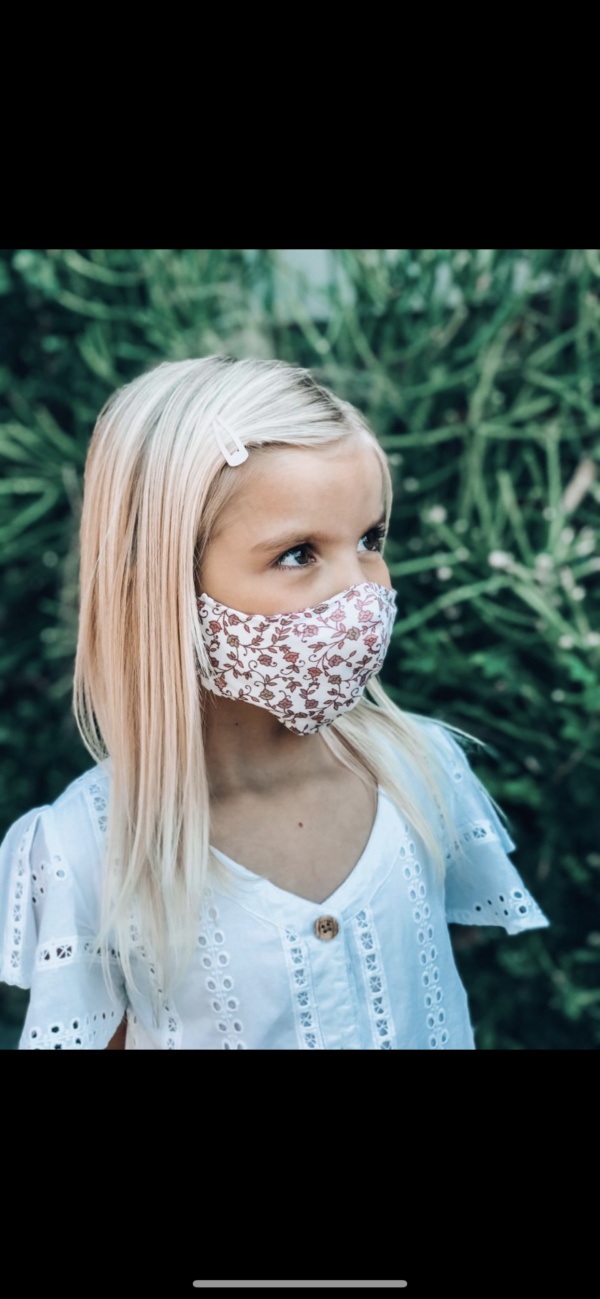 kiddies mask floral