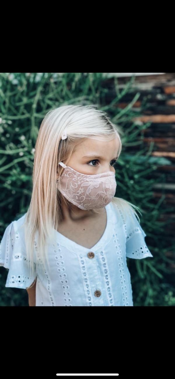 kiddies mask lace