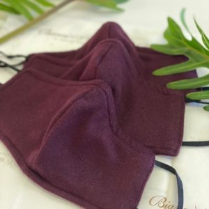 Aubergine cotton mask